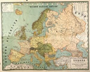 Mapa de Europa, 1900, de José Reinoso, vía Flickr