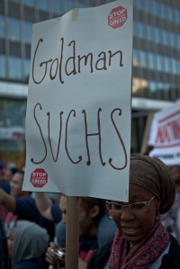 March on Wall Street, by pamhule, vía Flickr