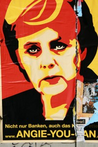 Merkel, graffitti, by Sánchez-Crespo, by Flickr