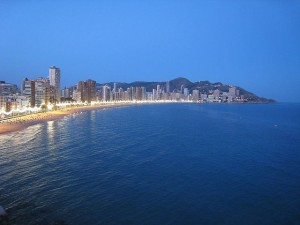 Benidorm at dusk, by Natham Eaton Jr., by Flickr