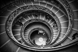Escalera helicoidal (Roma), por Alfonso 1979
